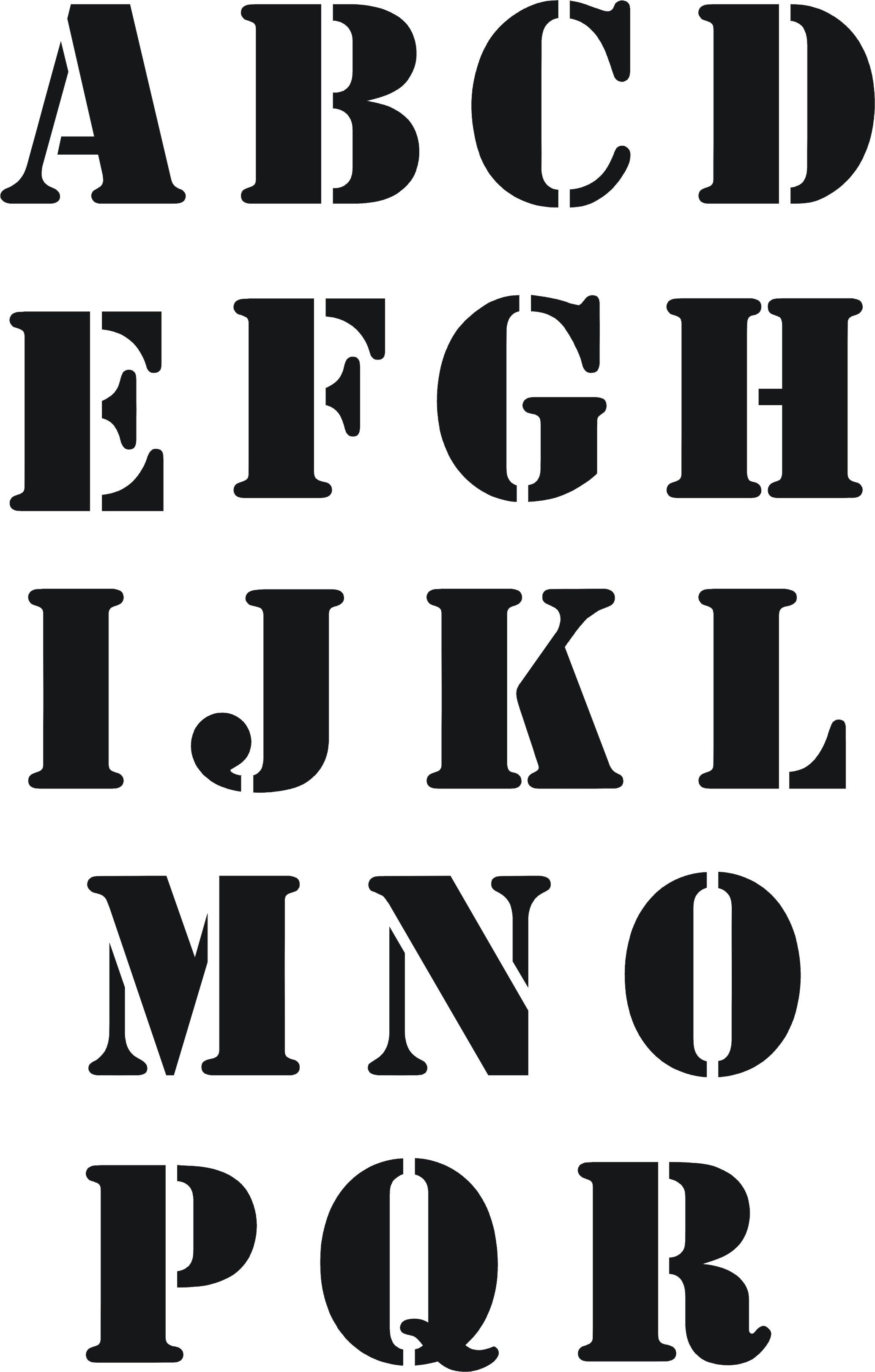 Eigenmarke Stencil Schablone Abc 2Tlg. | Plantillas De destiné Police Ecriture Noel