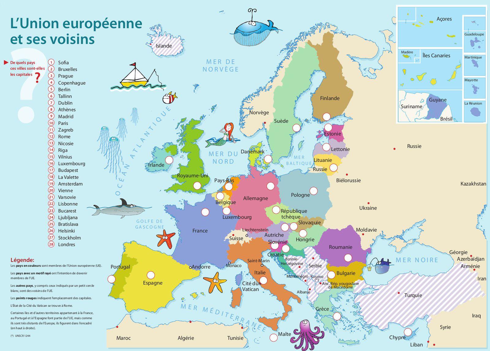 Élections Européennes : Trois Indices Pour Le Quiz Du Mois destiné Carte Europe Capitale