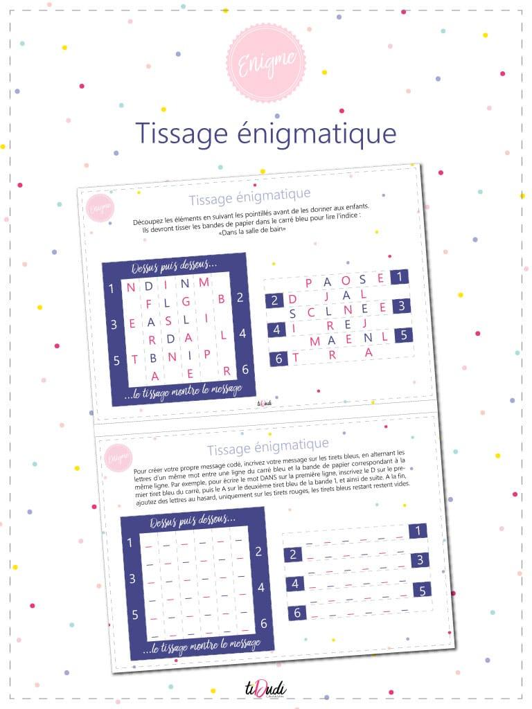 Énigme Pour Enfant : Le Tissage Énigmatique - Tidudi encequiconcerne Jeux De Intelligence De Fille