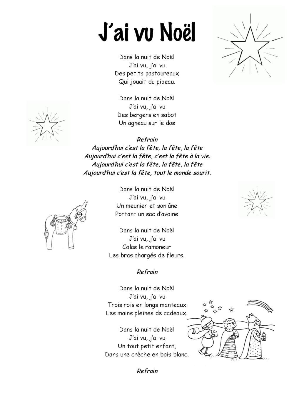 Entre Le Boeuf Et L'âne Gris Il Est Né Le Divin Enfant Mon à Papa Noel Parole