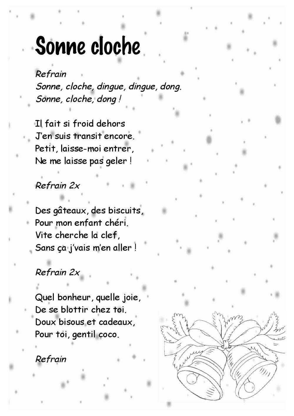 Entre Le Boeuf Et L'âne Gris Il Est Né Le Divin Enfant Mon dedans Papa Noel Parole