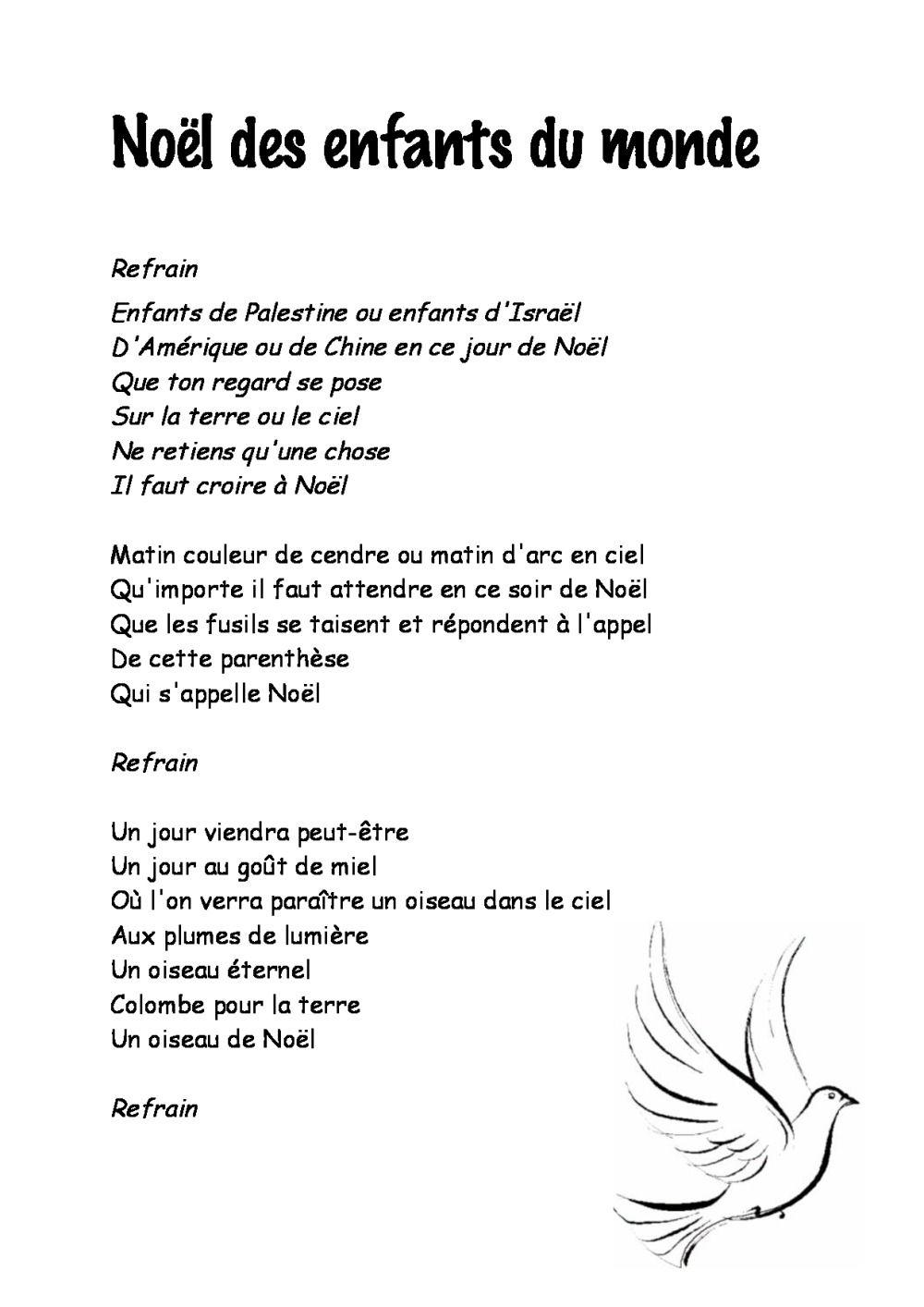 Entre Le Boeuf Et L'âne Gris Il Est Né Le Divin Enfant Mon pour Chanson De Noel En Chinois