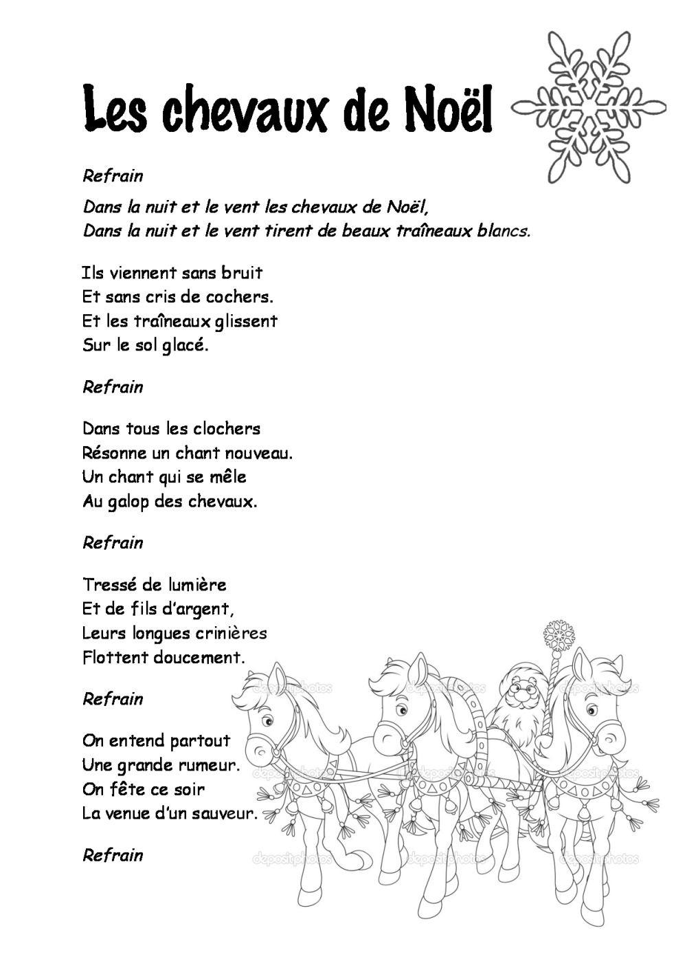 Entre Le Boeuf Et L'âne Gris Il Est Né Le Divin Enfant Mon pour Papa Noel Parole