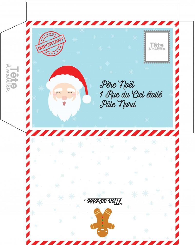 Enveloppes De Noël, Des Enveloppes De Noel A Imprimer - Noel avec Reponse Lettre Du Pere Noel A Imprimer