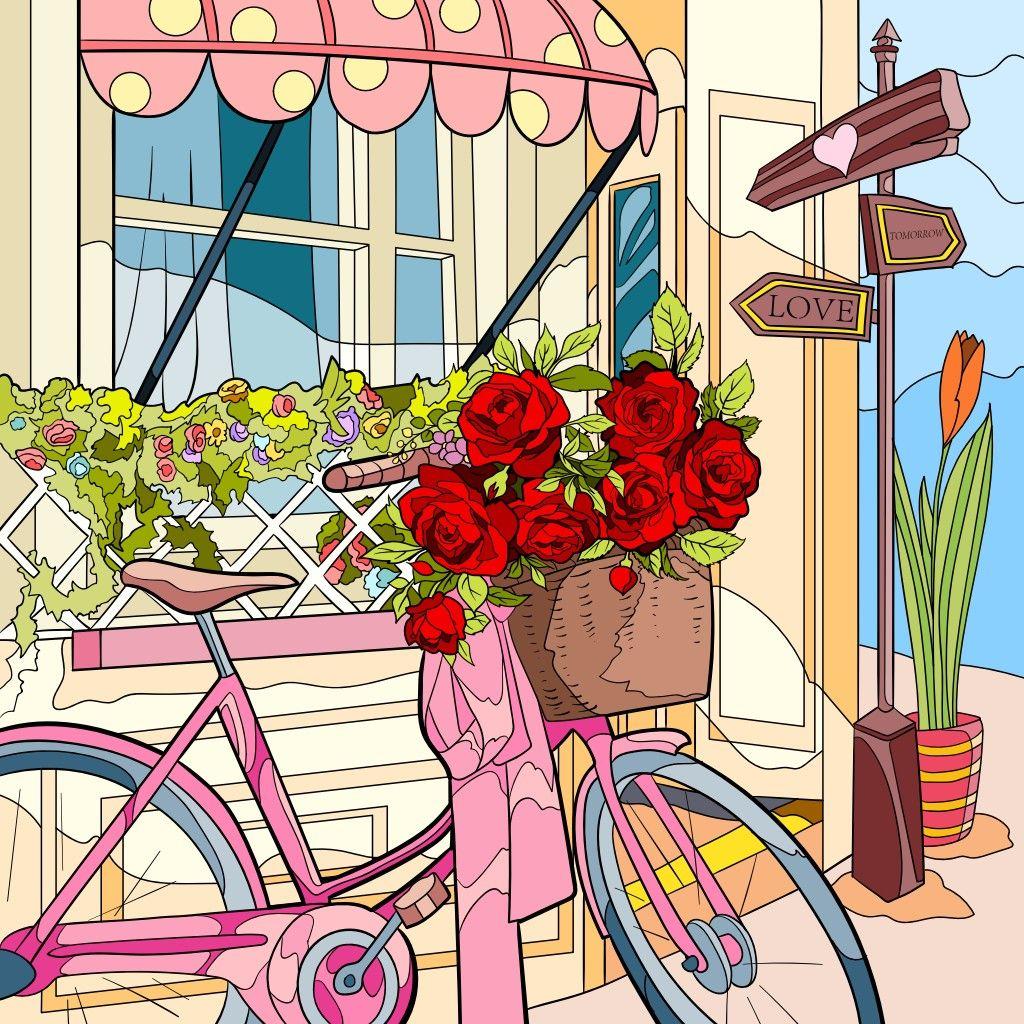 Épinglé Par France Darnell Sur Mes Coloriages Paint By intérieur Coloriage Grande Roue