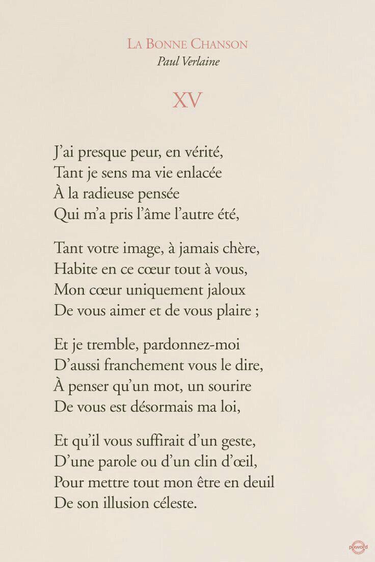 Épinglé Par Océane Brodier Sur Poèmes | Paul Verlaine serapportantà Chanson Pense À Moi