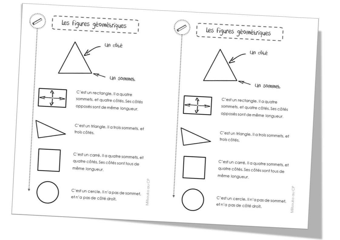 Épinglé Sur Maths tout Fiche Géométrie Cp