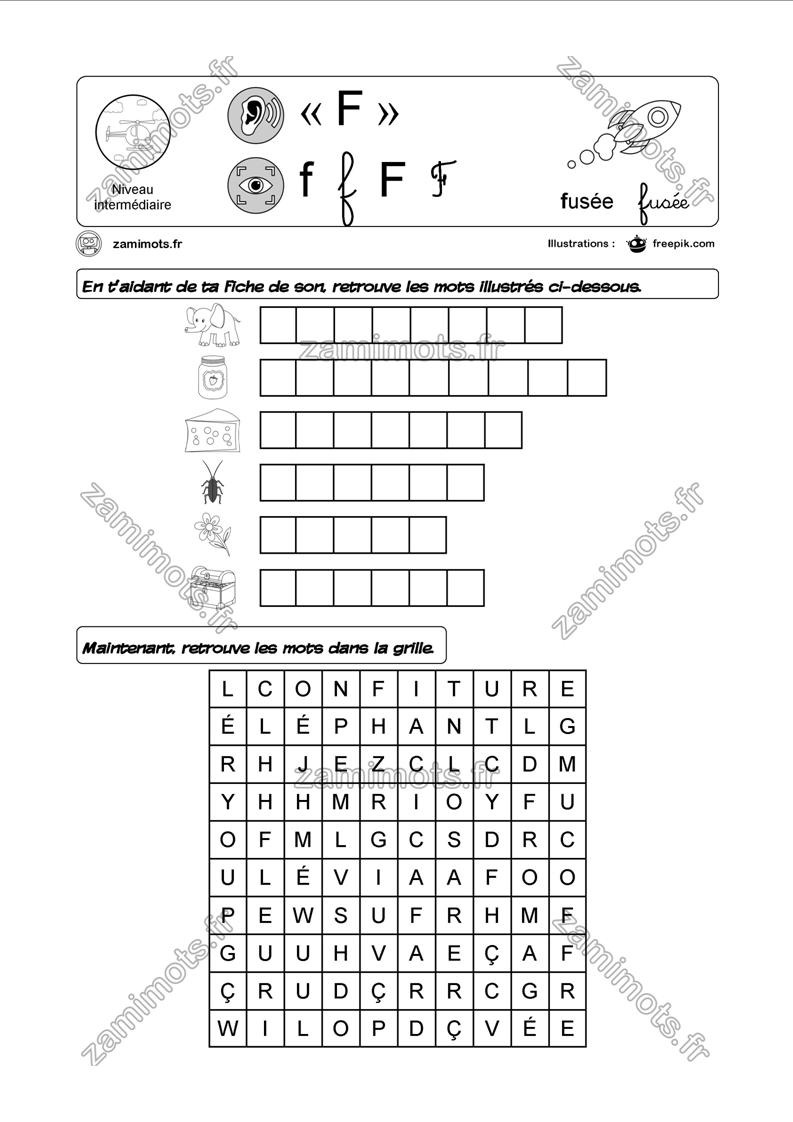Épinglé Sur Phonologie intérieur Le Son F Cp