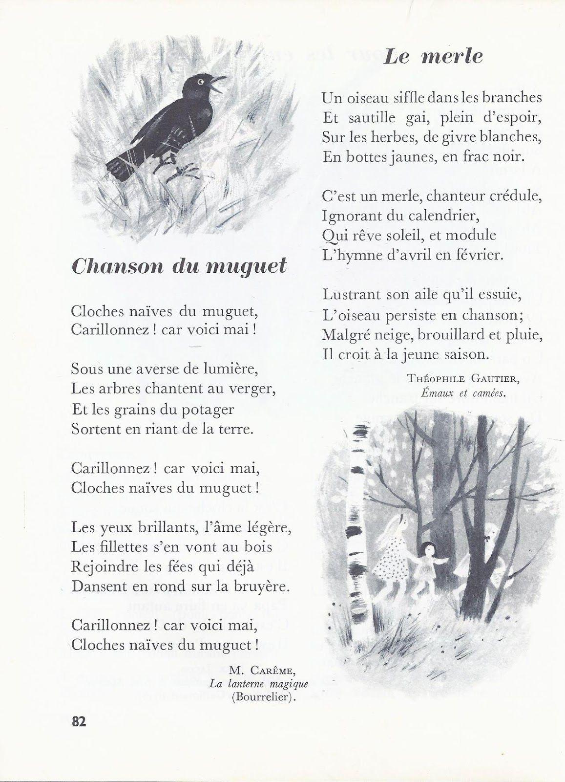 Épinglé Sur Poesies serapportantà Mars De Maurice Careme A Imprimer