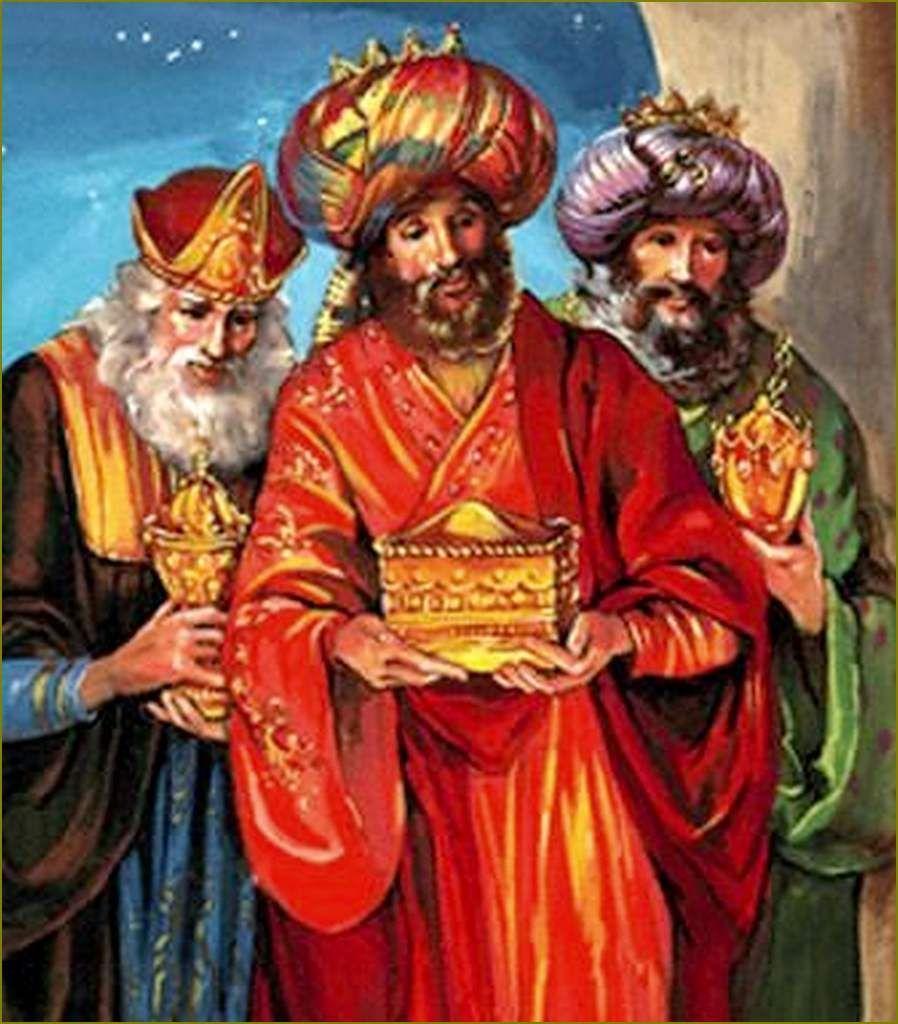 Epiphanie - Les Rois Mages Illustrés | Peintures De Noël concernant 3 Roi Mage