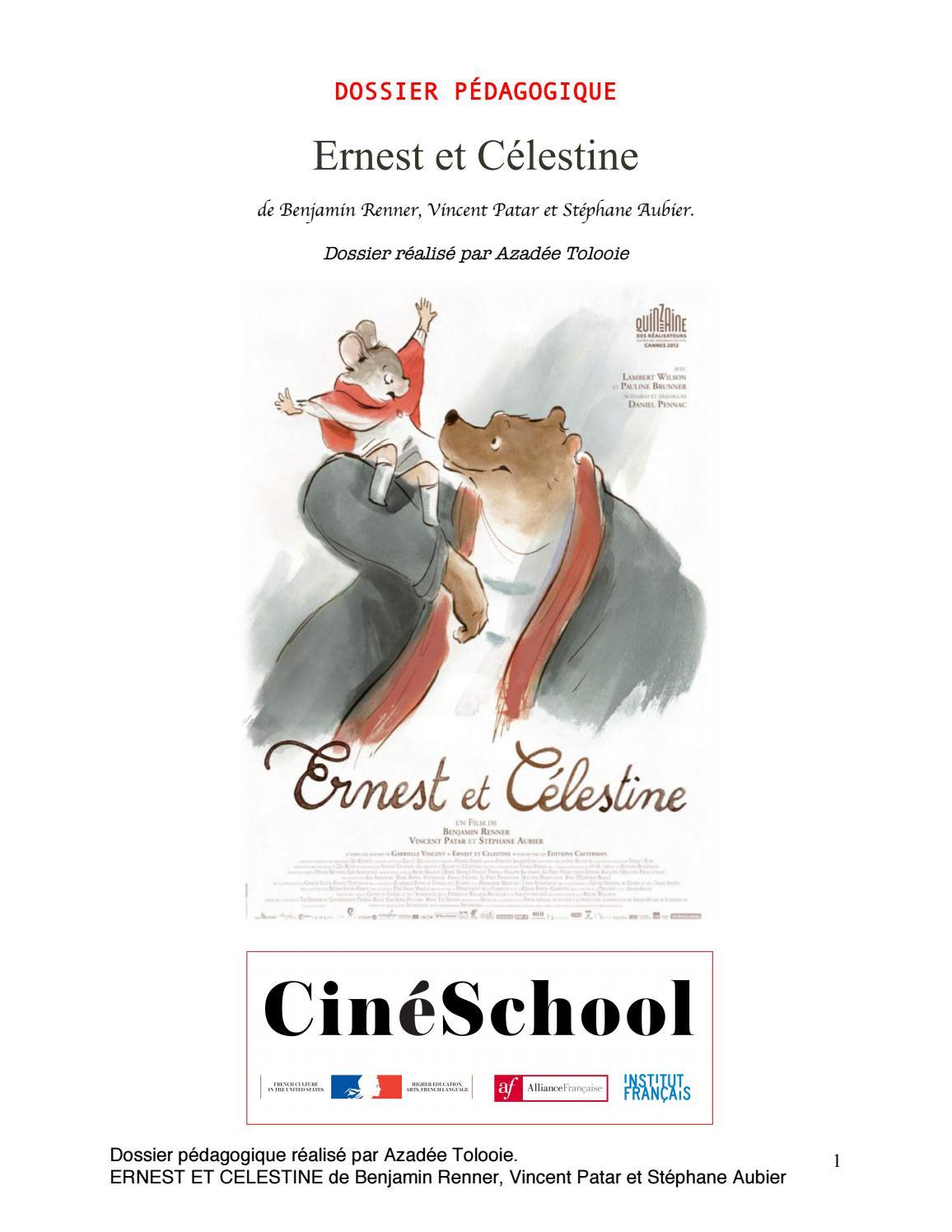 Ernest Et Celestine - Dossier Pédagogique By Azadée Tolooie encequiconcerne Fiche Pédagogique Les 5 Sens