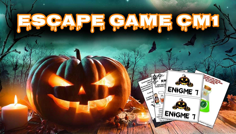 Escape Game Halloween : Niveau Cm1 - Profissime - Ressources dedans Halloween Ce2