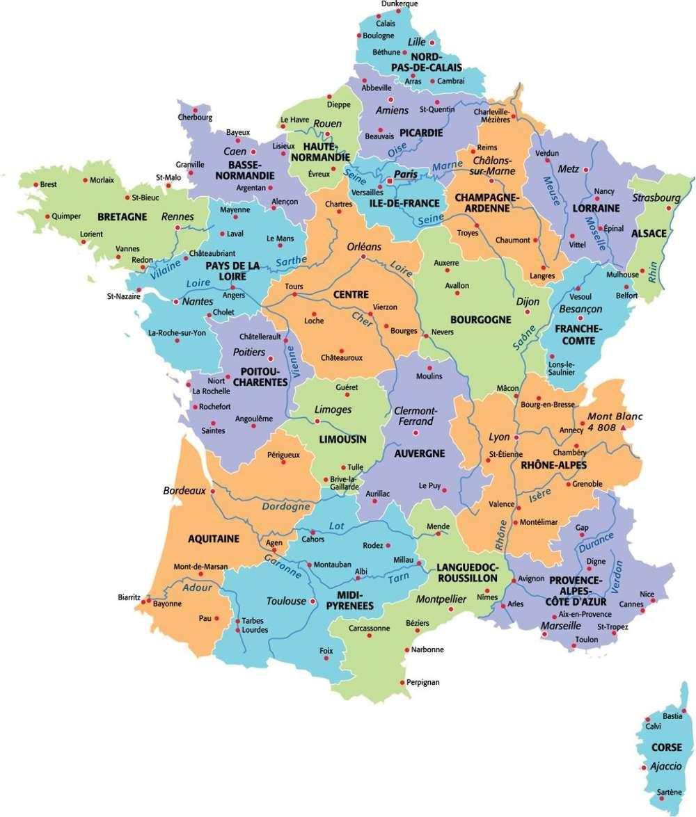 Espacoluzdiamantina: 25 Nouveau Map De France Avec Departement concernant Nouvelle Carte Des Régions De France