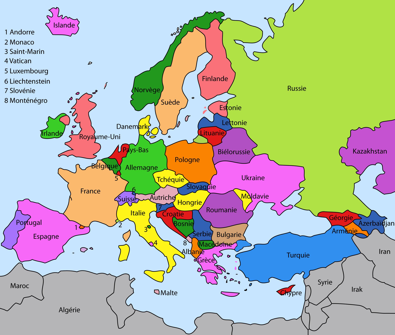 Espacoluzdiamantina: 26 Impressionnant Carte De L4Europe dedans Carte Europe Avec Capitales