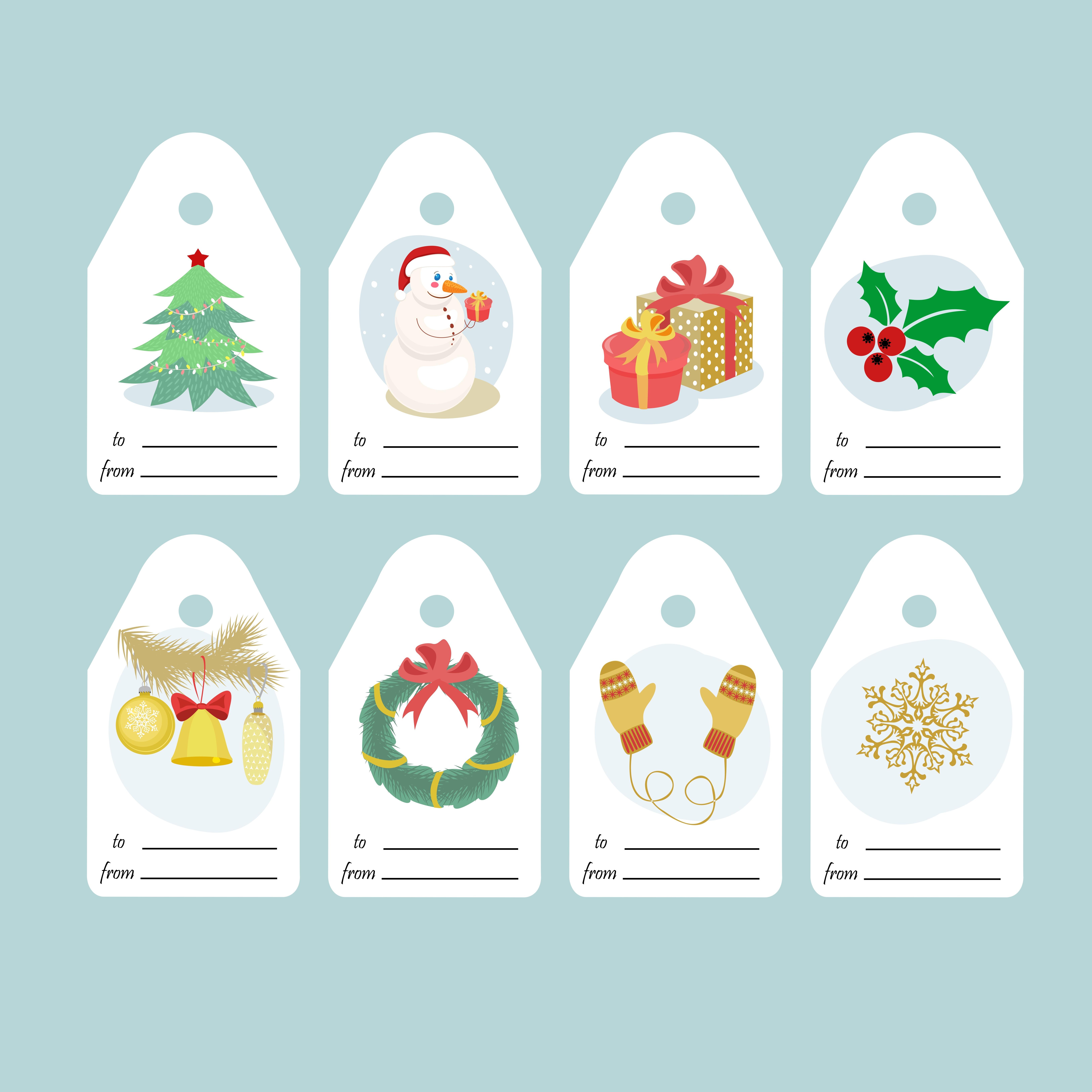 Etiquettes Cadeau De Noël À Imprimer - Un Max D'idées destiné Etiquette Noel A Imprimer