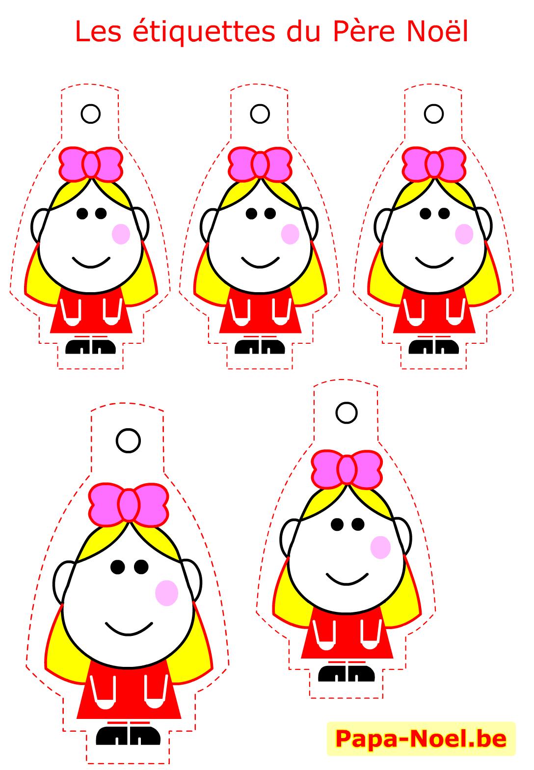 Etiquettes De Noel A Imprimer Gratuites Modèle Fille Pour destiné Découpage Collage Maternelle À Imprimer