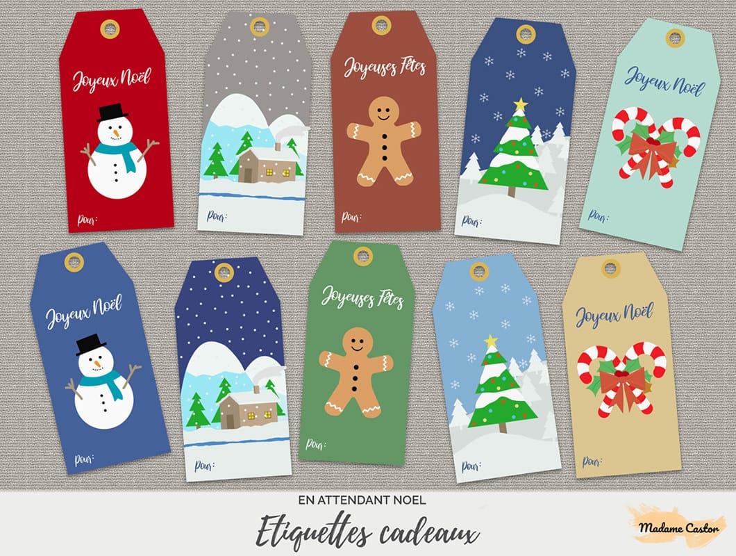 Étiquettes De Noël - Free Printable - Madame Castor avec Etiquette Noel A Imprimer
