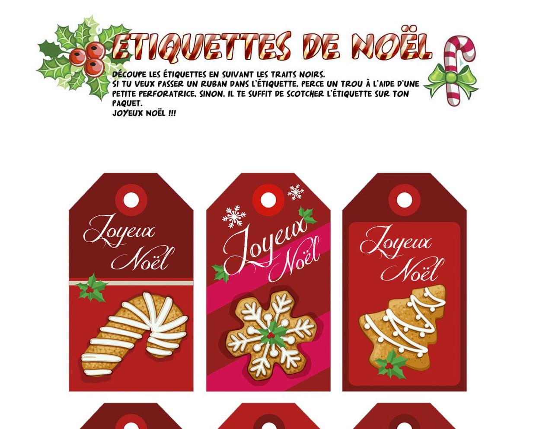 Étiquettes De Noël Sucreries Et Pain D'épice concernant Etiquette Noel A Imprimer