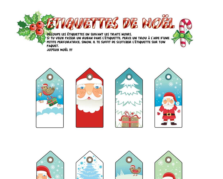 Étiquettes De Noël Tradition concernant Etiquette Noel A Imprimer