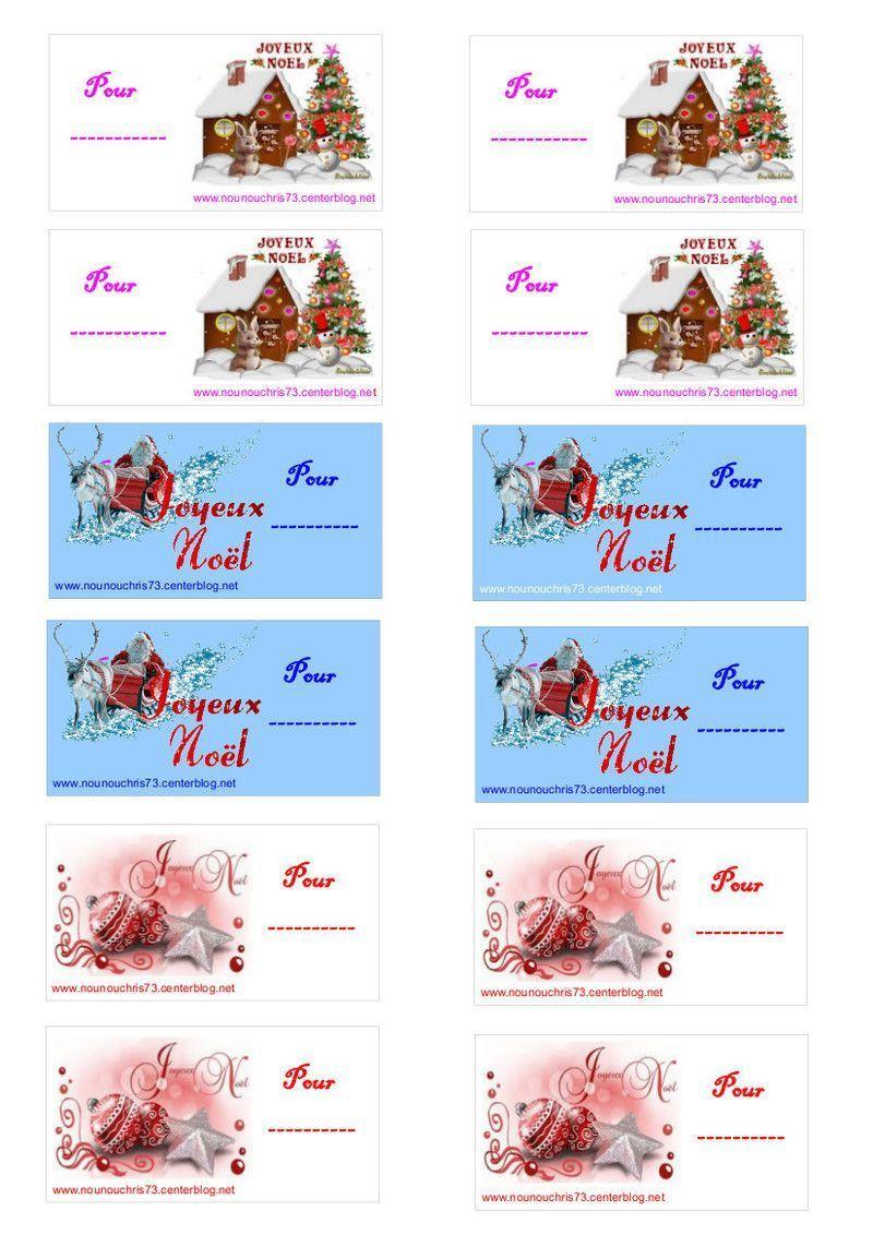 """Etiquettes """"joyeux Nöel"""" À Imprimer Pour Les Cadeaux destiné Etiquette Noel A Imprimer"""