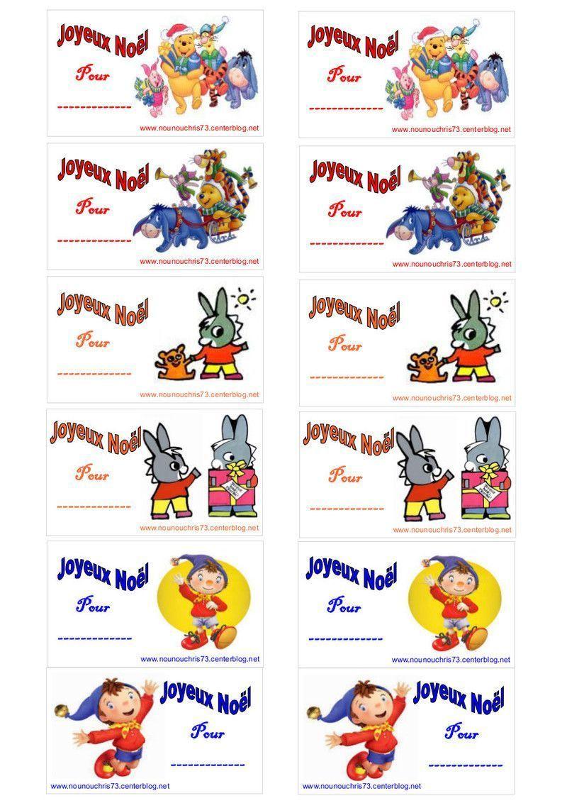 Etiquettes Noel à Etiquette Noel A Imprimer