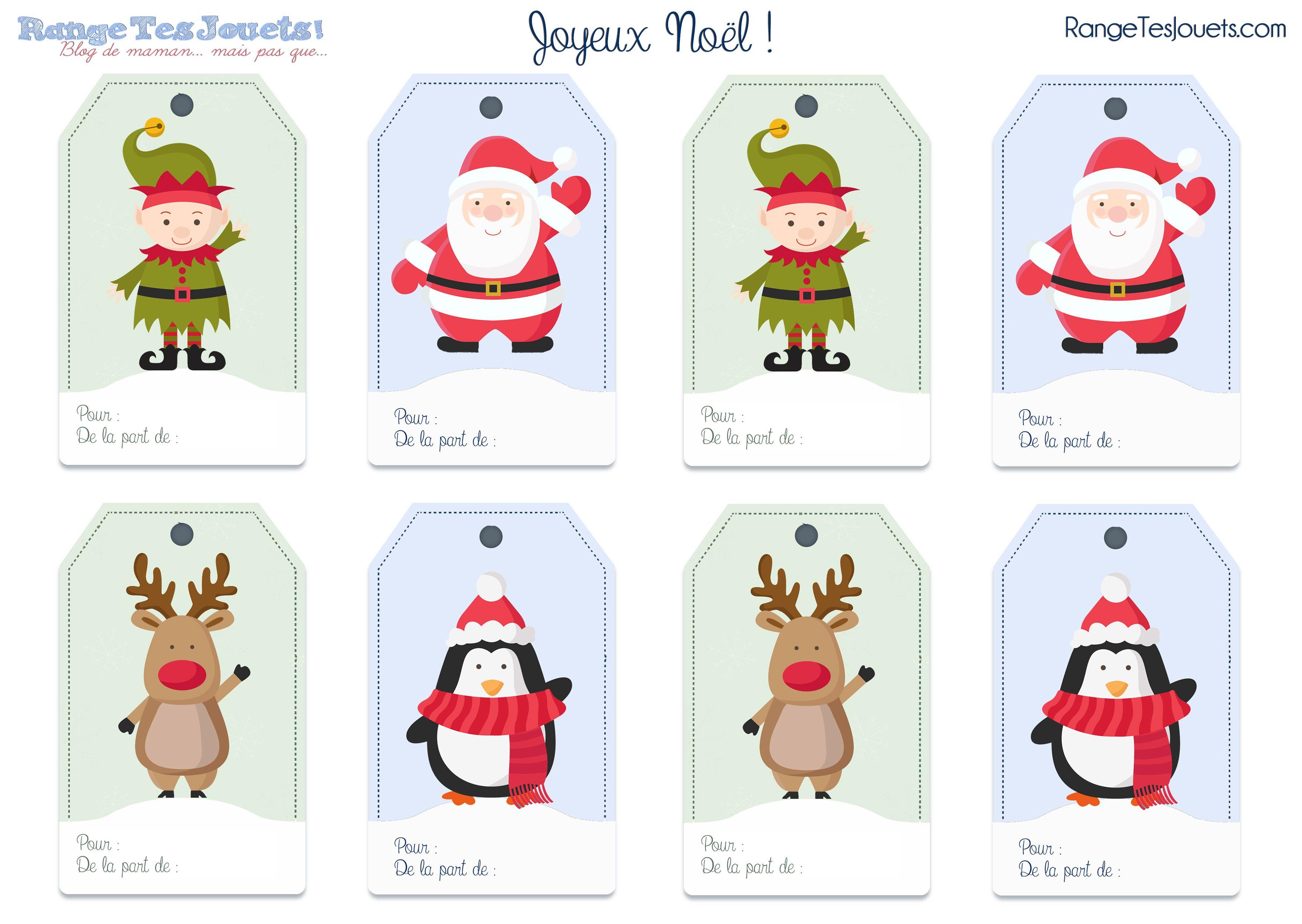 Étiquettes Pour Petits Paquets Cadeaux… [Printable dedans Etiquette Noel A Imprimer