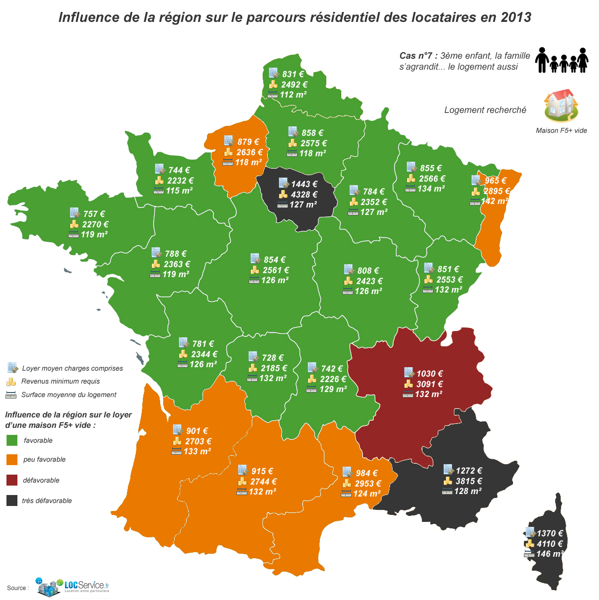 Etude De Profils-Types De Locataires : Cas N°7, Une Famille concernant Carte De France Pour Les Enfants
