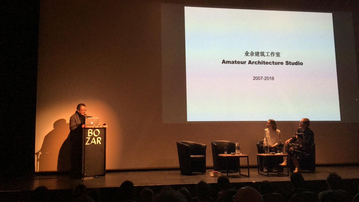 "Eumiesaward On Twitter: ""architect Wang Shu (Pritzker Prize destiné Bo Programmes 2012"