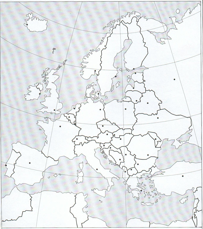 Europe - Carte Des Etats Et Des Capitales - À Compléter - 4E serapportantà Carte Europe Capitale