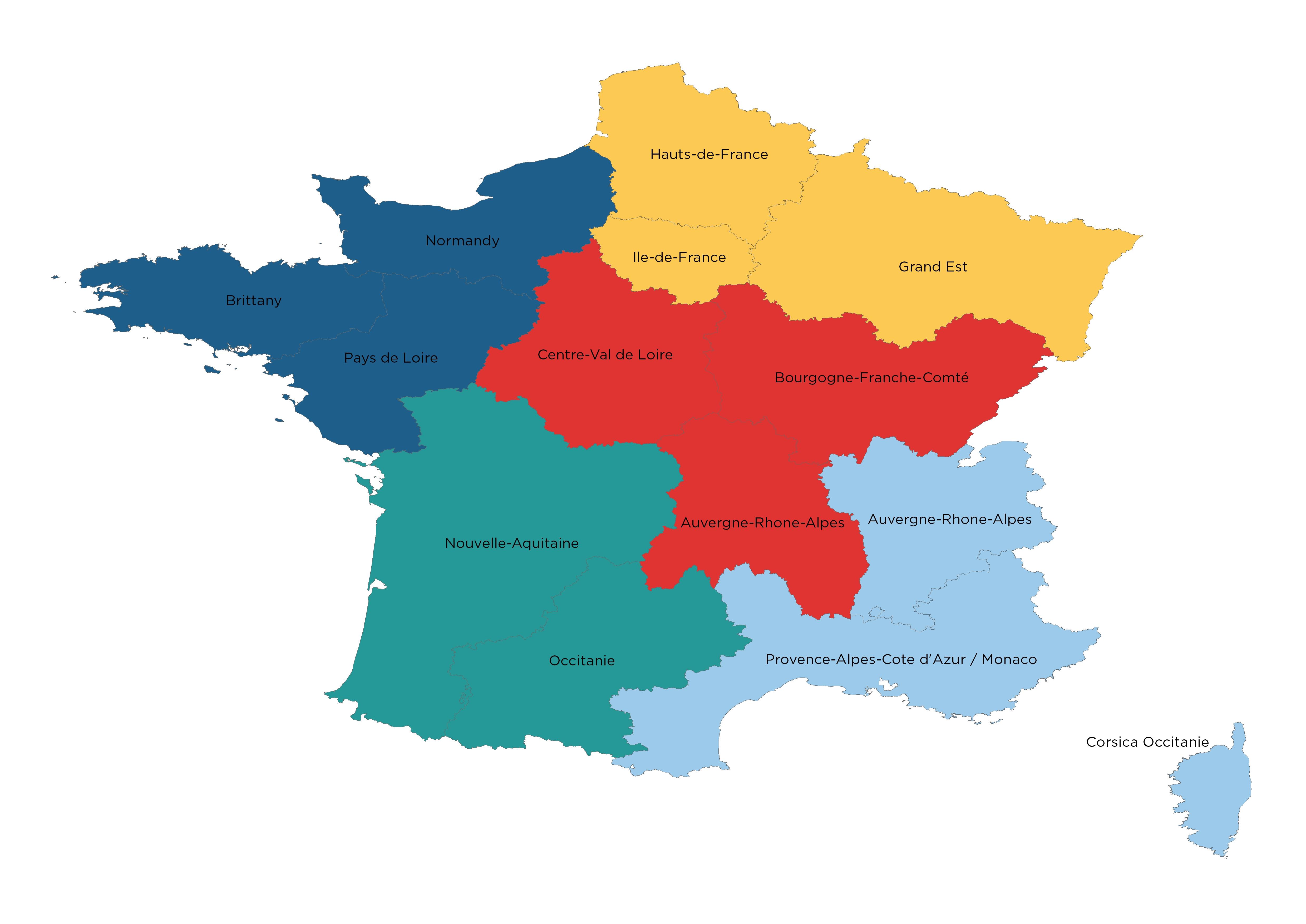European Map Coverage In The Tomtom Go Navigation App intérieur Nouvelle Region France