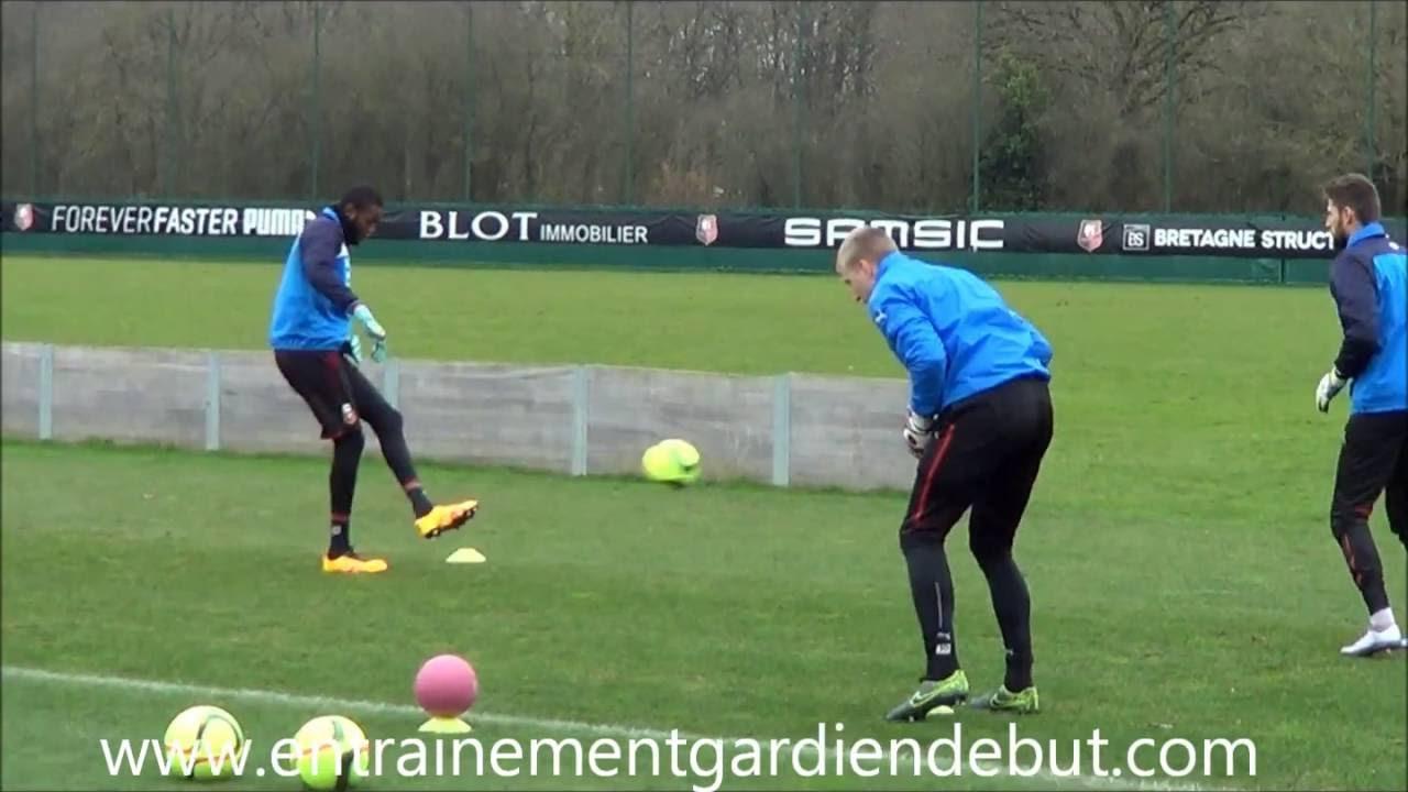 Exercice Gardien De But Echauffement Prise De Balle + Jeu Au Pied Training  Goalkeeper tout Jeux De Foot Gardien De But
