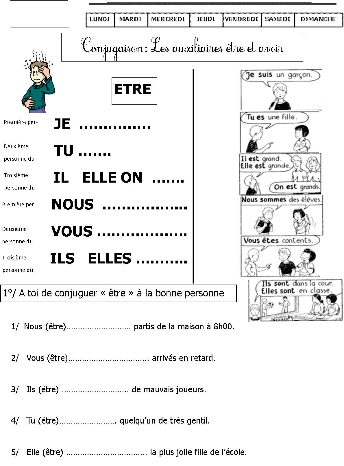 Exercices De Conjugaison Ce1 | Le Blog De Monsieur Mathieu serapportantà Exercice Cm2 Gratuit