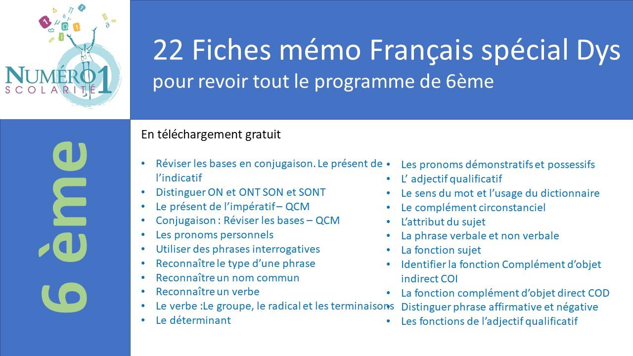 Exercices Et Leçons De Français 6Ème Gratuits À Télécharger encequiconcerne Exercice Cm2 Gratuit