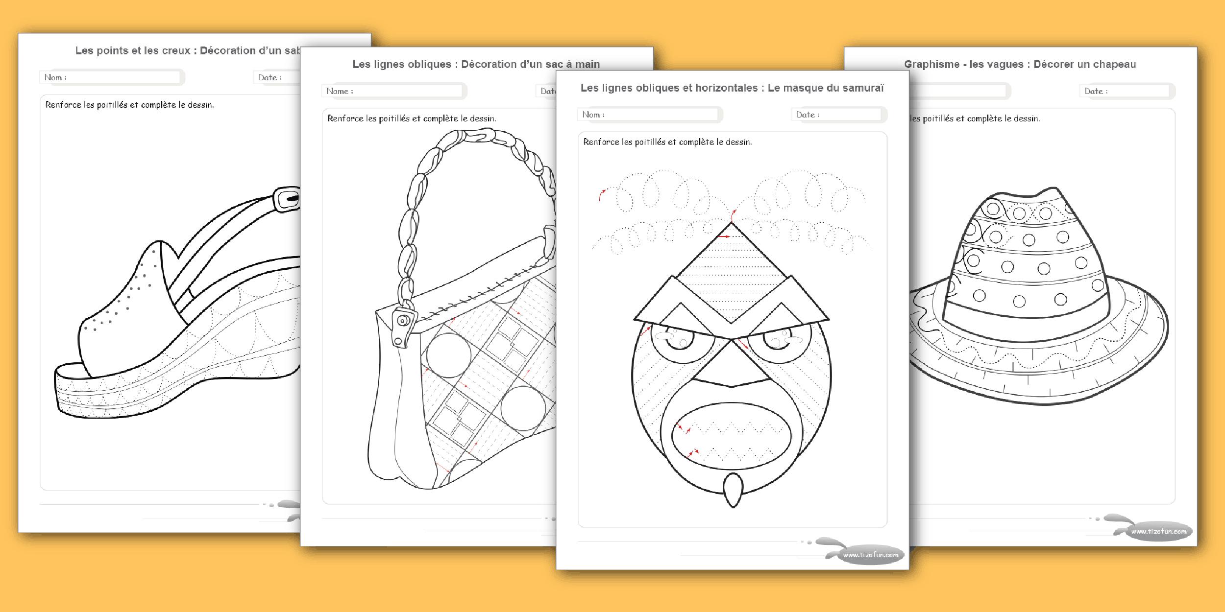 Exercices Maternelle Motricité Fine Par Le Dessin A Imprimer pour Dessin De Vague A Imprimer