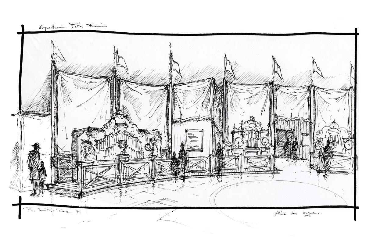 """Exposition.s """"il Était Une Fois La Fête Foraine 1850-1950"""" à Dessin De Fete Foraine"""