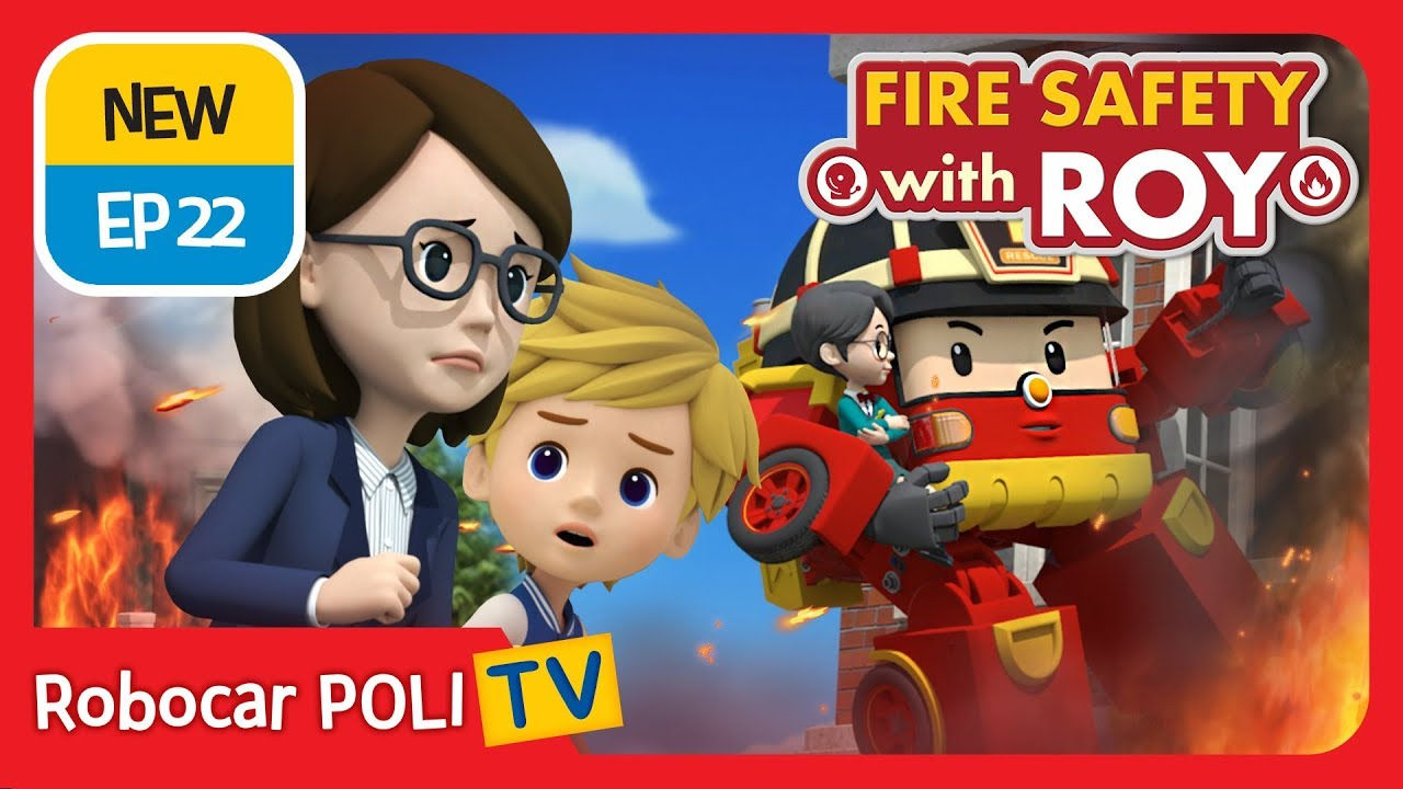 🔥fire Safety With Roy | Ep22 | The School Fire Drill concernant Chanson Robocar Poli
