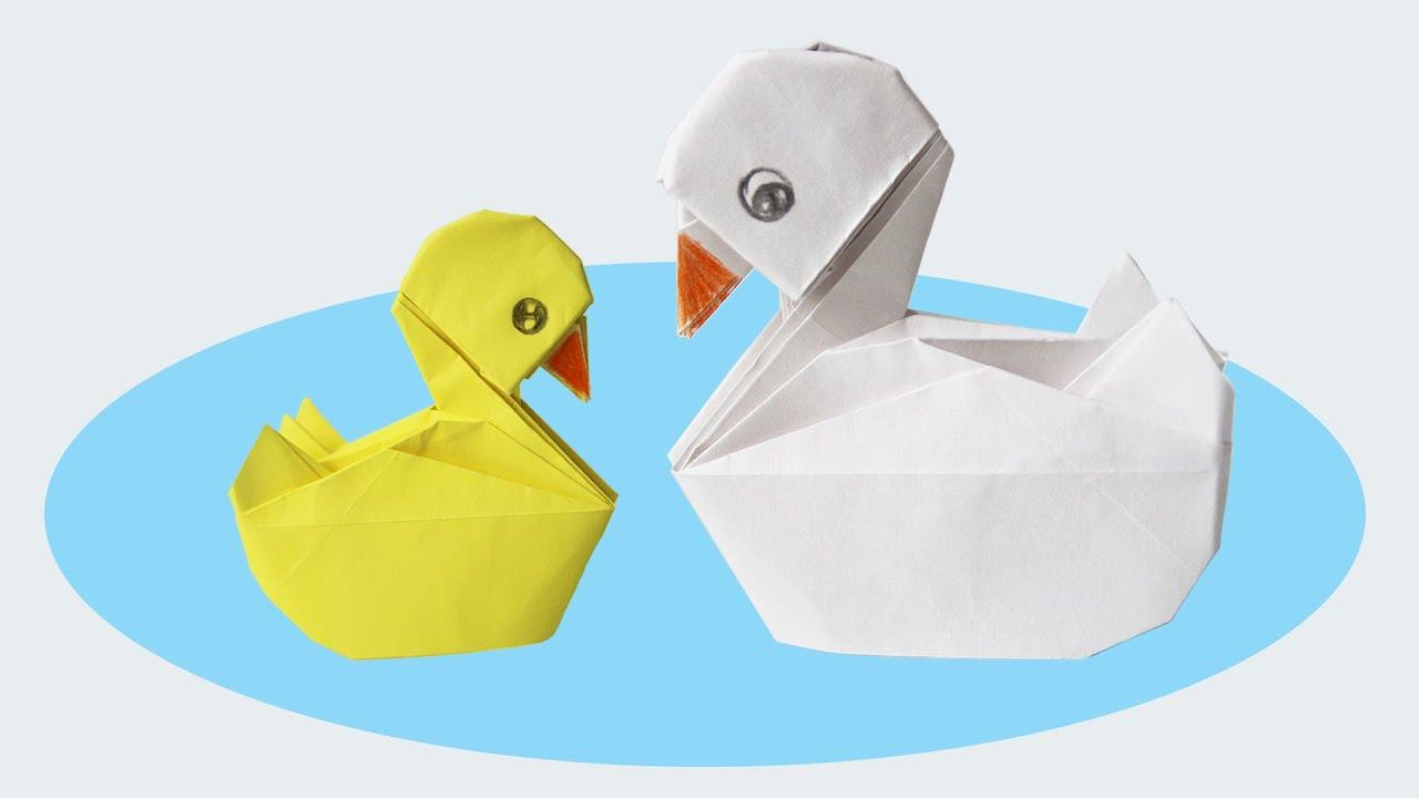 🦆 Origami Duck 🦆 - Duck • Con Vịt • Cane/canard (Henry Phạm) à Origami Canard