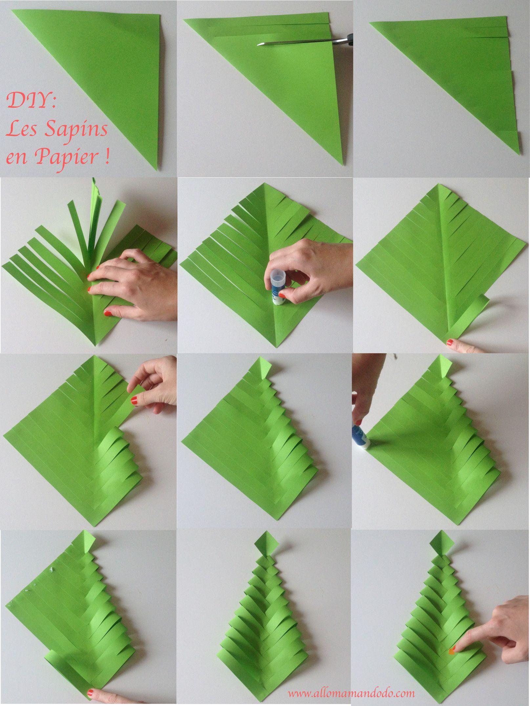 Fabrique Des Sapins De Noël En Papier (Diy Facile Et Rapide serapportantà Origami Sapin De Noel