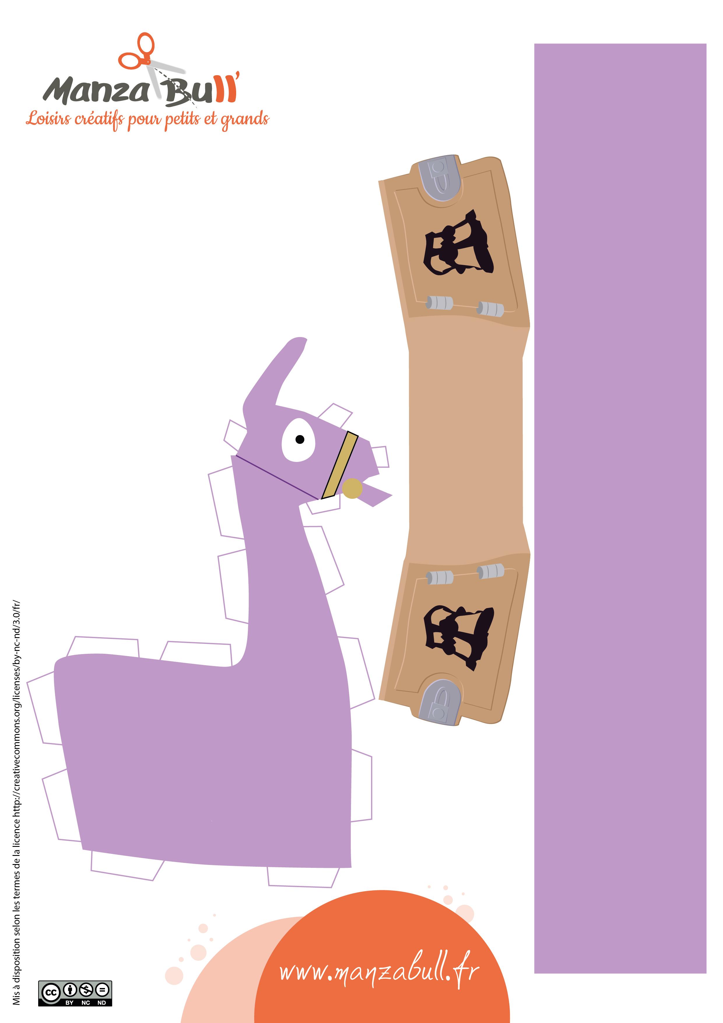 Fabrique Ton Lama Fortnite Diy - Manzabull' pour Patron De Maison En Papier A Imprimer