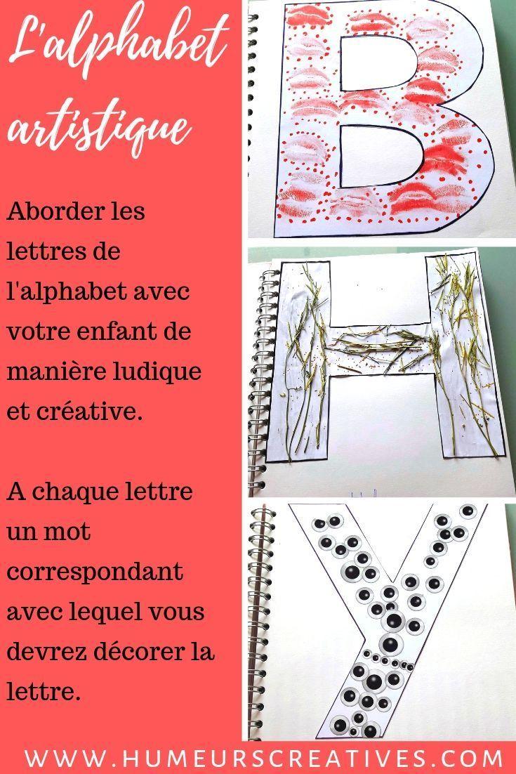 Fabriquer Un Alphabet Artistique Avec Les Enfants avec Jeux De Lettres Enfants