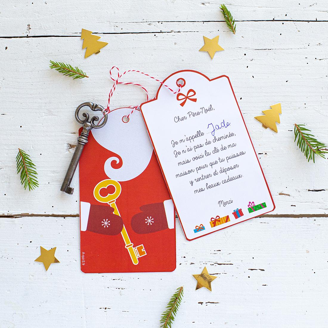 Fabriquer Une Clé Du Père-Noël Pour Les Logements Sans Cheminées avec Reponse Lettre Du Pere Noel A Imprimer