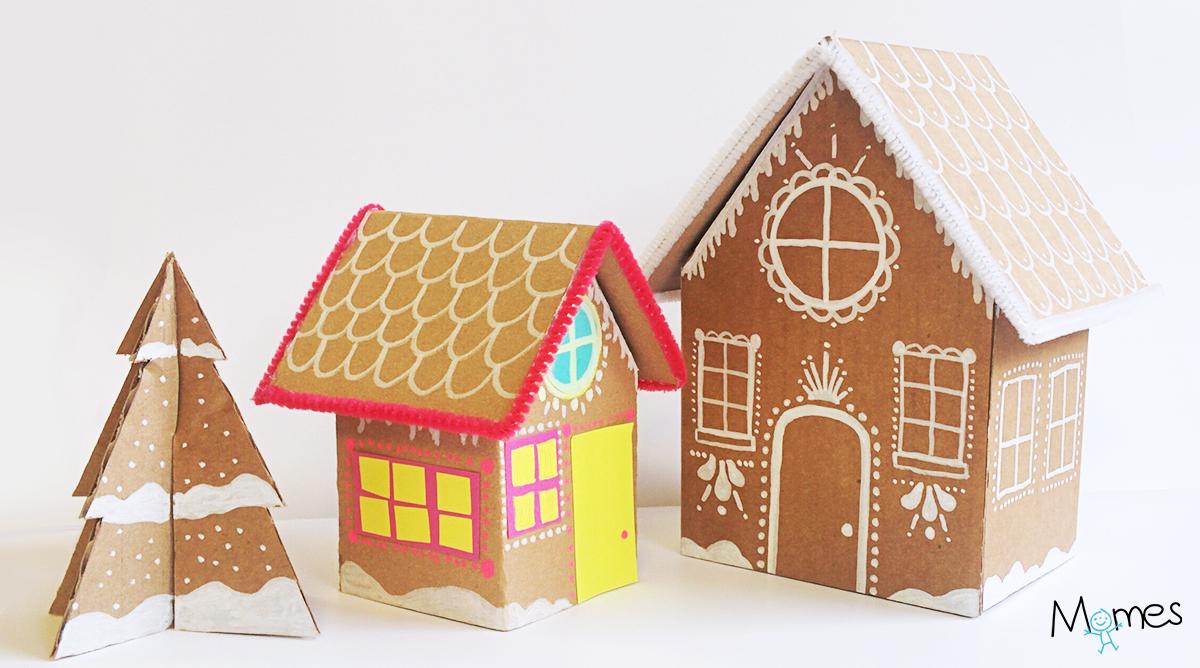 Fabriquer Une Maison De Pain D'épices En Carton - Momes concernant Patron De Maison En Papier A Imprimer