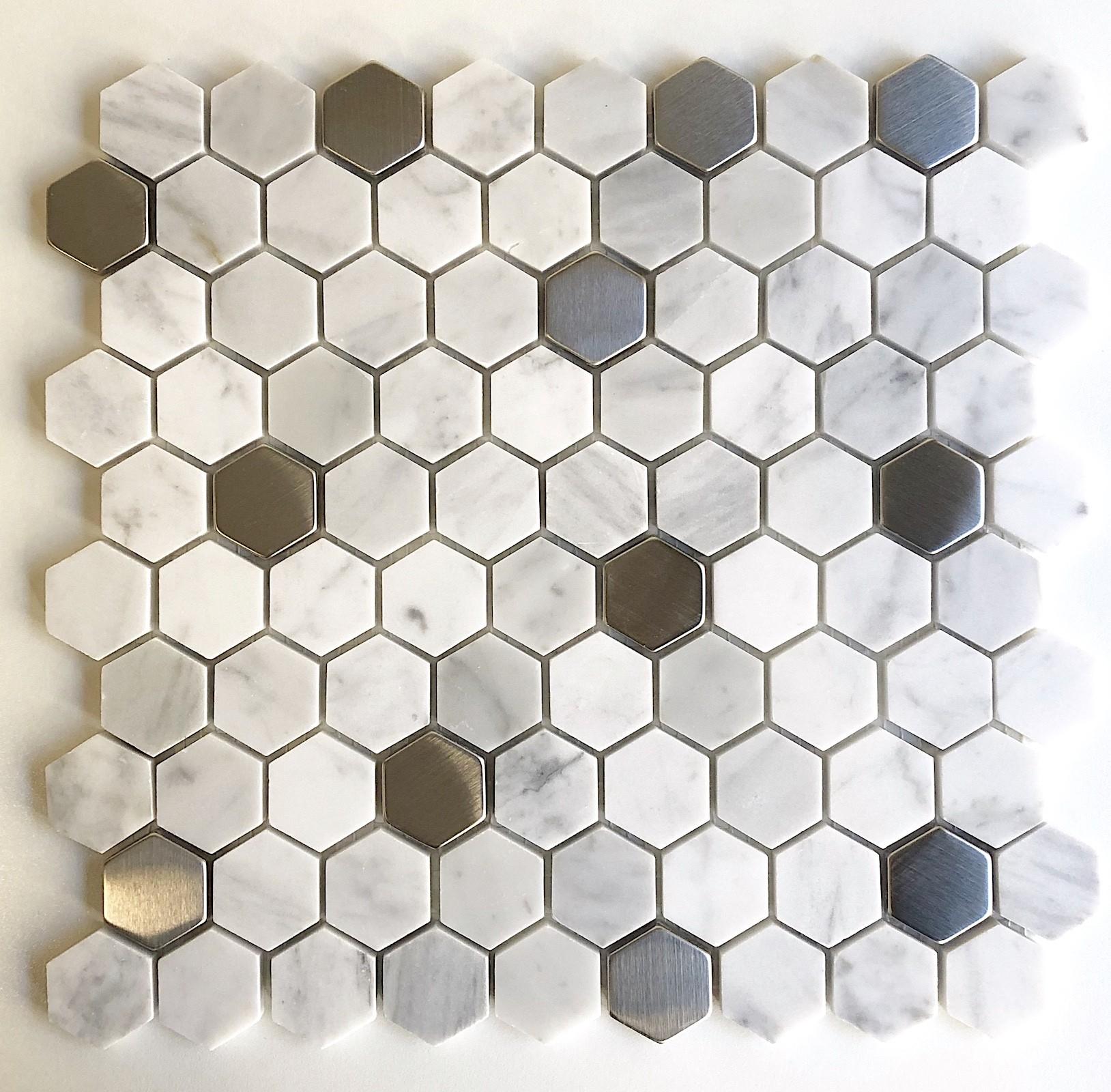 Faience Hexagonnale Cuisine Carrelage Salle De Bain Marbre serapportantà Support Pour Mosaique