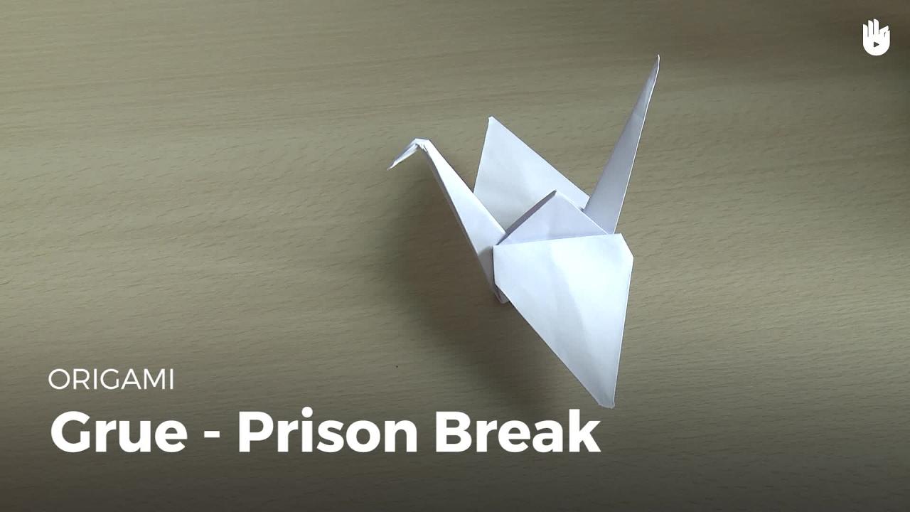 Faire La Grue De Prison Break | Origami serapportantà Origami Canard