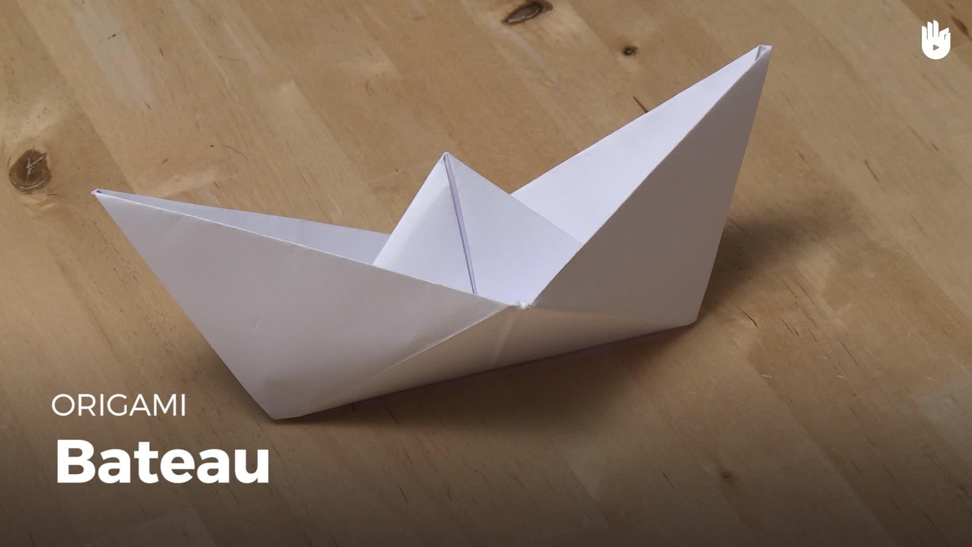 Faire Un Bateau En Papier à Origami Facile A Faire En Français