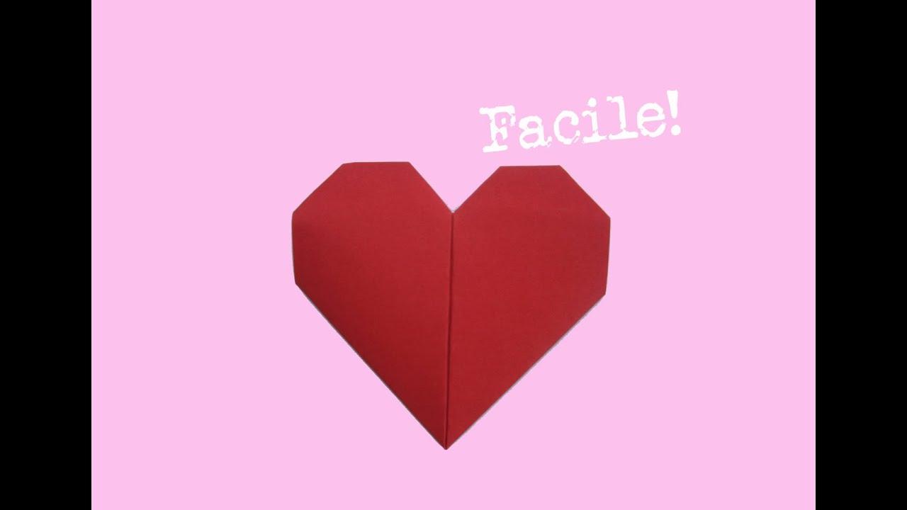 Faire Un Coeur En Origami - Papier - Facile - Bricoler - Instruction -  Tutorial dedans Origami Rose Facile A Faire