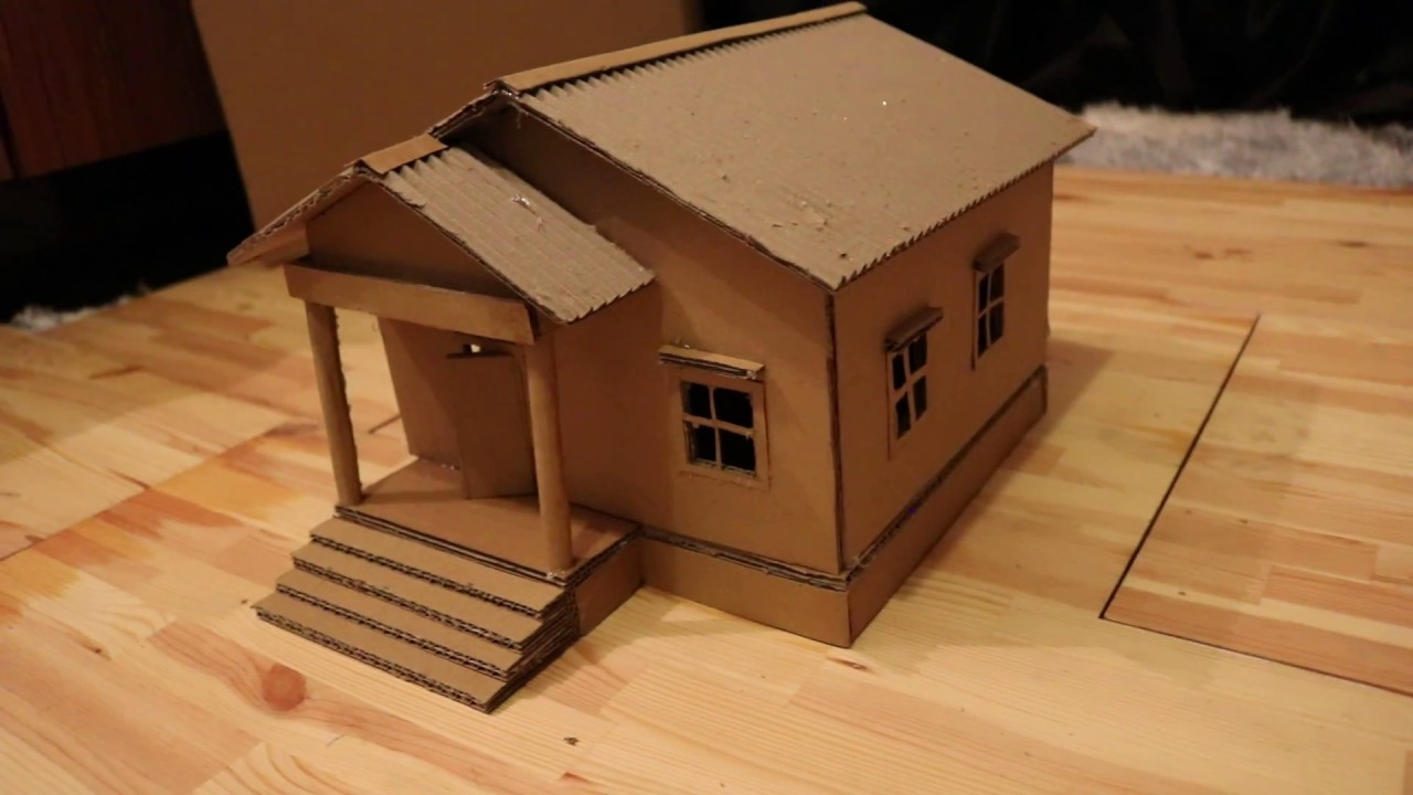 Faire Une Belle Maison En Carton. Bricolage Simple pour Patron De Maison En Papier A Imprimer