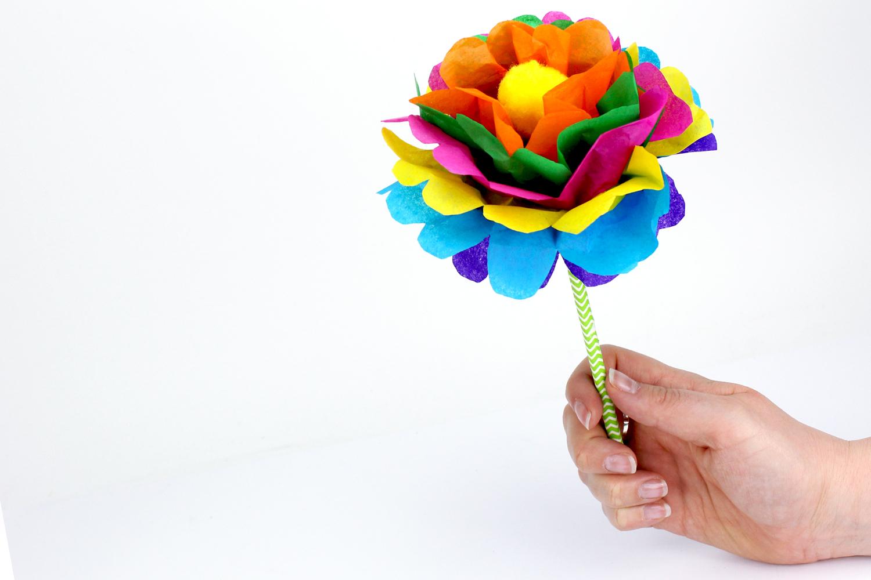 Faire Une Fleur En Papier : Méthode Facile - Activités à Realisation Papier Crepon