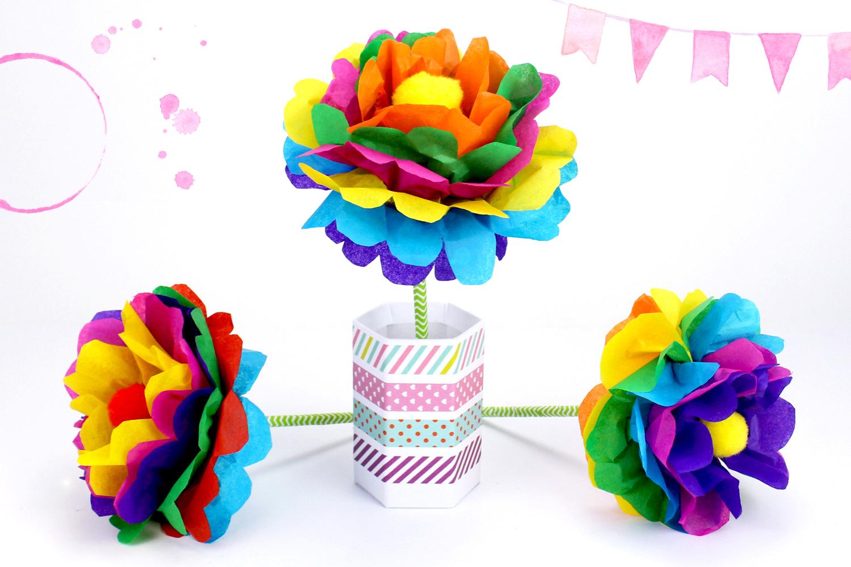 Faire Une Fleur En Papier : Méthode Facile - Activités serapportantà Realisation Papier Crepon