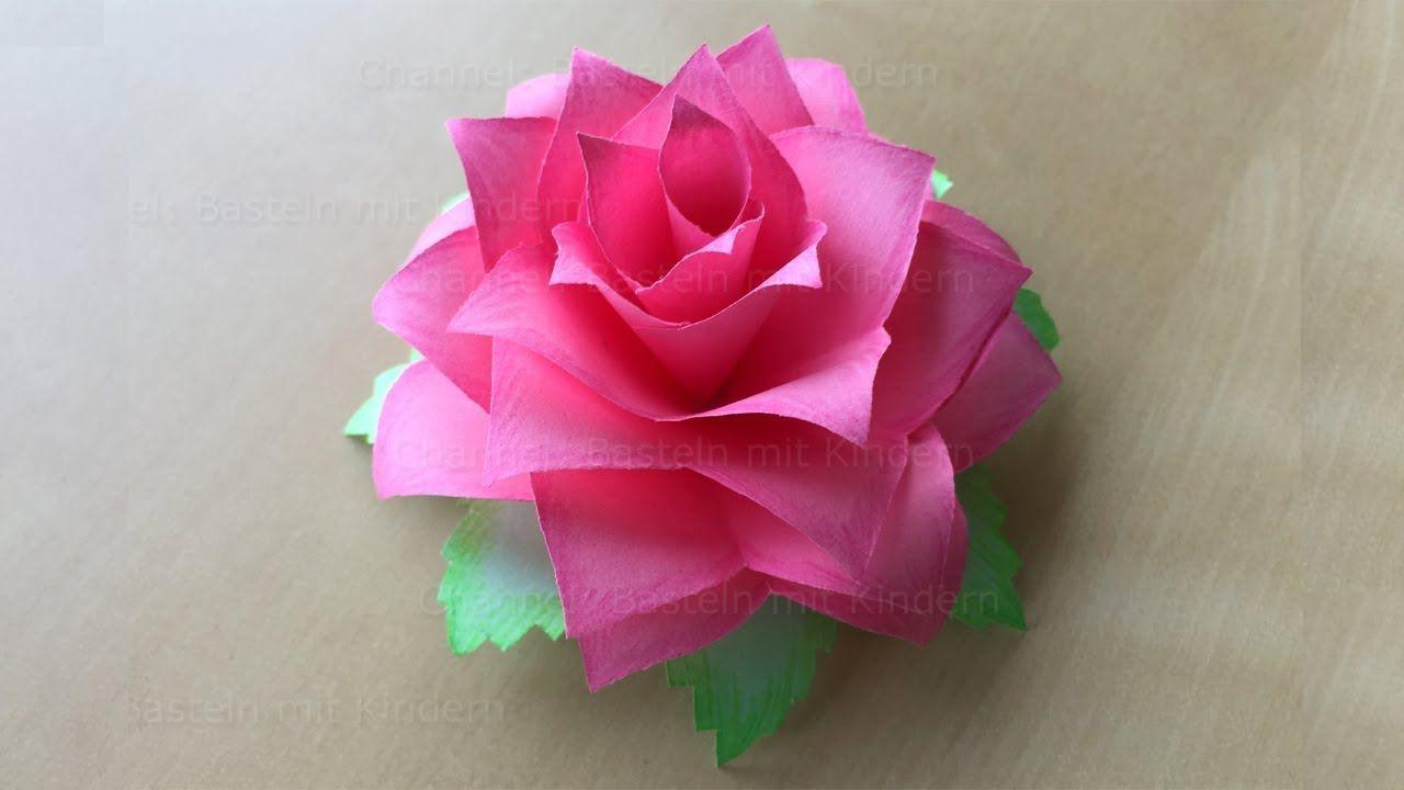 Faire Une Rose En Papier - Fleur En Papier - Bricolage avec Origami Rose Facile A Faire